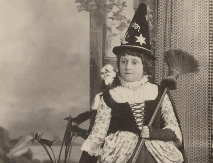 Nellie Sanderson dressed as a witch c. 1887, courtesy of the State Library of South Australia B 7723/296